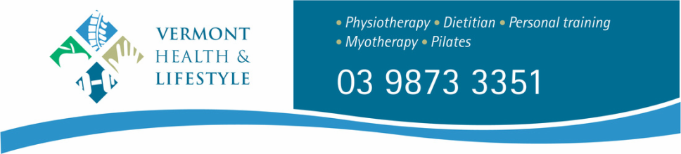 Vermont Health & Lifestyle | Physiotherapy Vermont | Myotherapy Vermont | Dietetics Vermont | Personal Training Melbourne Vermont | Pilates